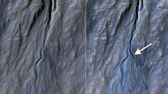 Misterio y Ciencia Hoy: Un nuevo barranco aparece en Marte
