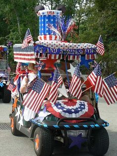 golf cart 4th of july parade idea | Decorated Golf Cart Fort Wilderness Campground Photo by Eileen Ludwig