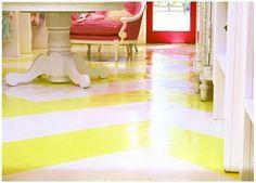 chevron painted floor..
