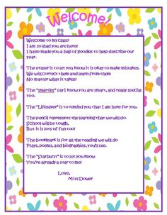 Student Teaching Teacher Welcome Letter  Student Teaching