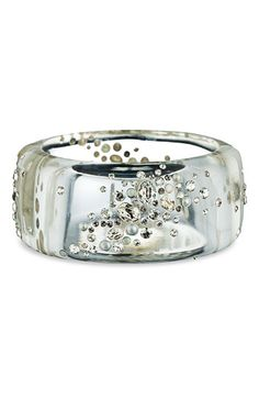 Alexis Bittar 'Cosmic Dust' Large Transparent Hinged Bracelet available at #Nordstrom