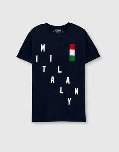Pull&Bear - man - clothing - t-shirts - camiseta milán - navy - 09239573-I2016