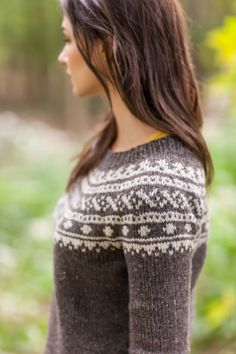 Skydottir pullover from Brooklyn Tweed--- really loving brooklyn tweed's pattern design! adorable