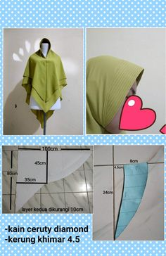 Batik Fashion, Fashion Sewing, Muslim Fashion, Hijab Fashion, Dress Muslim Modern, Baby Hijab, Diy Fashion Hacks, Sewing Blouses, Head Scarf Styles
