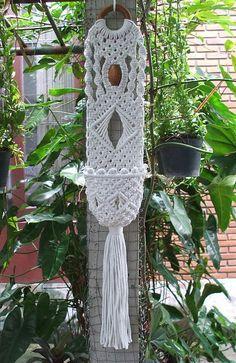 Spirale Macrame muro pianta Hanger di handiworkclub su Etsy