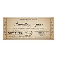 Vintage Hochzeits-Karten-Einladung
