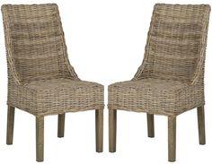Safavieh Suncoast Rattan Arm Chair (Set Of 2)
