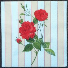 PN-72. Roses Paper Napkins  napkins for decoupage  by onestroke08