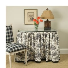 Idea for updating my dressing table.                                        Vanity Tableskirt. Image: calicocorners.com.