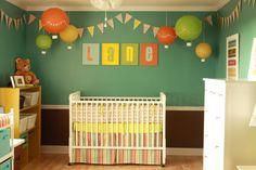 Hot Air Balloon theme boy nursery