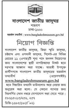Bangladesh National Museum Job Circular 2018 Museum Jobs, Job Circular, Memorial Museum, National Museum