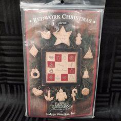 Fannie Turgeon Redwork Christmas Ornaments Kit Memories In Cloth Primitives New #IndygoJunctionInc