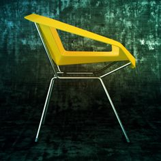 I especially liked the background on this graphic, and how the stark metal made the chair seem even more sleek and austere