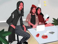 Gif illustration : Afternoon Meeting