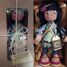 katxirula Crochet Baby Shoes, Hello Dolly, Amigurumi Doll, Crochet Dolls, Crochet Projects, Hobbit, Clay, Toys, Crafts