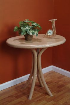This Oval Oak End Table is a beautiful piece and has a matching table to set collectibles and family photos… Oak End Tables, Tall Table, Custom Furniture, Woodworking, Maryland, Virginia, Home Decor, Beautiful, Products