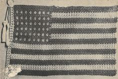 American Flag Tatting PATTERN from a 1955 by BlondiesSpot on Etsy