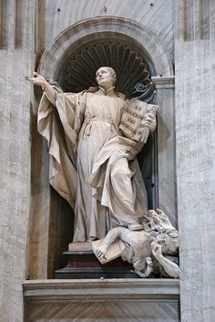 Statue of St. Ignatius Loyola, founder of the School of Jesus (Jesuits) Nave, St. Peter's Basilica, Vatican