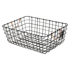 Antique Pewter Decorative Wire Basket - Black - Threshold™ //// I actually checked these out in person and these things are solid. XD