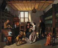Interior of a Pharmacy of a Four Figures, Jos van Bree
