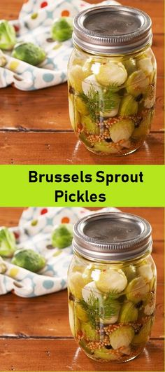 Quick Pickled Brussels Sprouts with Jalapeno are the perfect accompaniment to anything you're serving this holiday season! Pickled Brussel Sprouts, Brussle Sprouts, Yellow Mustard Seeds, Breakfast Recipes, Dinner Recipes, Veggie Dishes, Side Dishes, Fresh Tomato Salsa, Sprout Recipes
