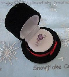 New cute #black velvet top hat gift ring box - #perfect for #wedding engagement,  View more on the LINK: http://www.zeppy.io/product/gb/2/322381518036/