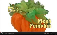 This is a great video created by Trees N Trends demonstrating to you how to make this gorgeous fall pumpkin using Deco Poly Mesh® Just click on the image to go to youtube to see the video. Before you start this project, please be sure to note how LARGE this pumpkin is……giant size)))) Course …