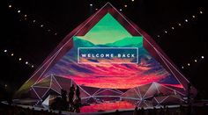 conference stage backdrop design - Google Search