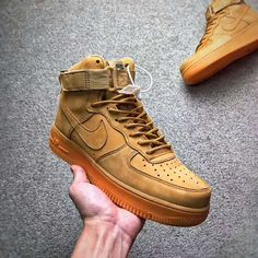 """050b39693 NIKE AIR FORCE 1 HIGH 07 LV8 WB """"FLAX"""" Gum available at www."""