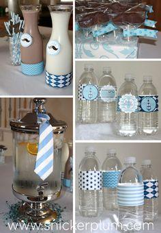 Little Man Baby Shower Decor | Snickerplum's Party Blog | Snickerplum