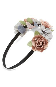 Prom accessory - Floral crown headband