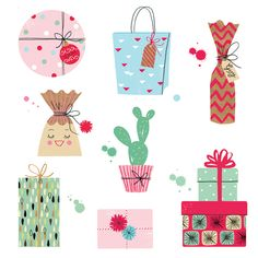 Christmas presents illustration by for Hooray Magazine by Neryl Walker