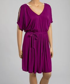 Eggplant Cutout Dress - Plus by Loveappella #zulily #zulilyfinds