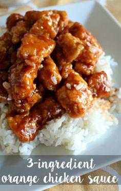 3-Ingredient Orange Chicken Sauce Recipe - SO GOOD!