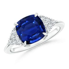 Angara Twist Split Shank Solitaire Blue Sapphire Bypass Ring in 14k Rose Gold oRWAWzE