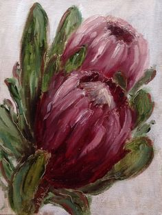 """Protea #231"" daily painting by Heidi Shedlock FREE POSTAGE worldwide for month of May 2014 so visit the online store"