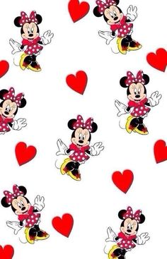 Minnie Mouse Mickey Mouse Wallpaper, Cartoon Wallpaper, Disney Wallpaper, Watercolor Wallpaper Iphone, Hello Kitty Pictures, Mickey And Friends, Mickey Minnie Mouse, Flower Backgrounds, Disney Love
