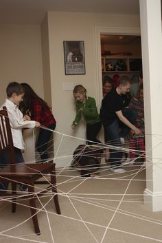 It's the Elliot Way: Party Games For Kids: The String Maze