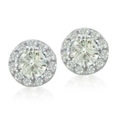14K White Gold Diamond Stud Earrings With Pave Diamonds (1/2ct tw) SuperJeweler. $299.00. Crafted In Solid 14 Karat White Gold. All purchases from SuperJeweler come with The SuperJeweler Lifetime Guarantee. Your SuperJeweler jewelry purchase includes a lifetime guarantee against the loss of side stones or damage to the jewelry's setting or center stone. It also includes a one-year replacement guarantee against the loss of your jewelry's center stone.. 1/2 Carat Total Dia...