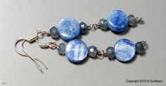 "Blue Kyanite and Labradorite Earrings - ""Meditative"" by SaiishEnergyCrystals on Etsy"