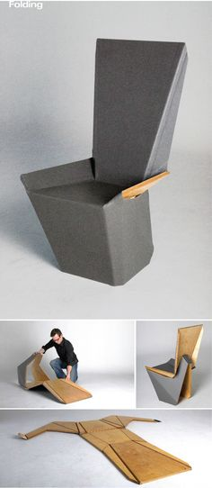 Flat Stanley Origami Chair by Brett Mellor