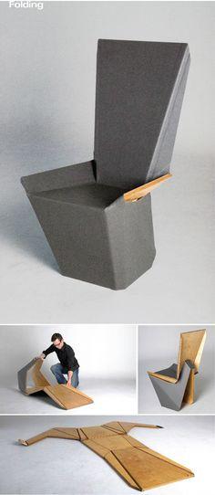 Flat Stanley Origami Chair by Brett Mellor