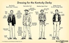 Good tips for men's outfits for the Kentucky Derby