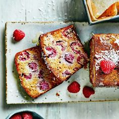 Raspberry and Coconut Breakfast Loaf