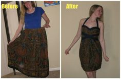Refashion Co-op: Paisley Indian Skirt Refashion [March 2014]