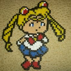 Sailor Moon hama beads by xikititita
