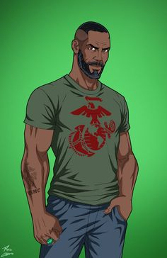 John Stewart (Earth-27) commission by phil-cho.deviantart.com on @DeviantArt