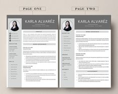 This Professional resume template is just what you need to freshen up that old resume! Creative and Sophisticated while still being professional. Cv Simple, Simple Resume, Creative Cv, Creative Resume Templates, Modern Cv Template, Resume Writing Tips, Cover Letter Template, Professional Resume, The Help