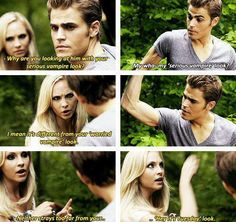 "Stefan & Caroline | ""hey it's Tuesday look"""
