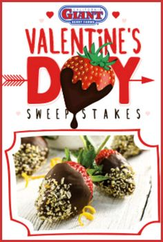 Cali Berry Farms Valentine's Day Sweepstakes WIN a Dozen Dipped Strawberries! Enter DAILY-Ends 2/11